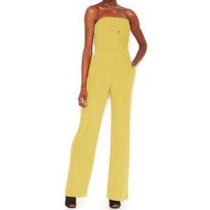 Rachel Roy- strapless yellow/green jumpsuit sz 0/2